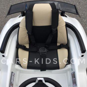 Электромобиль Mercedes-Benz SLS AMG (резиновые колеса, кожа, пульт, электроусилитель)