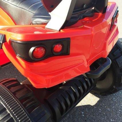 Электроквадроцикл Grizzly 4WD красный (АКБ 12v 10ah, колеса резина, сиденье кожа, пульт, музыка)
