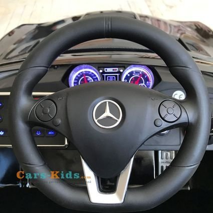 Электромобиль Mercedes-Benz SLS AMG Carbon Edition (сенсорный дисплей, колеса резина, сиденье кожа, пульт, музыка, электроусилитель)