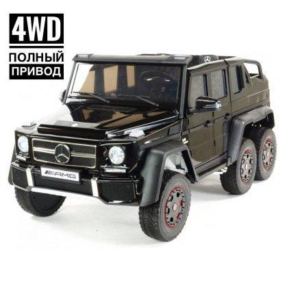Электромобиль Mercedes-Benz G63-AMG 4WD ABL1801 черный (двухместный, привод на 4 колеса, музыка, пульт управления)
