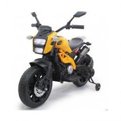 Детский электромотоцикл Harley Davidson - DLS01 желтый (колеса резина, ручка газа, музыка, свет)