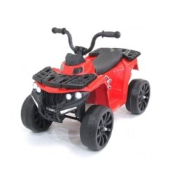 Детский квадроцикл R1 на резиновых колесах 6V - 3201 красный купить %gorodaa% (кресло кожа, колеса резина, музыка, свет)